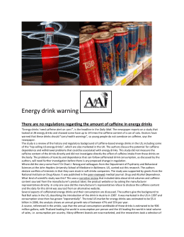 Energy drink warning