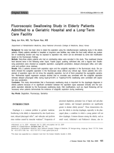 Fluoroscopic Swallowing Study in Elderly Patients Admitted to a