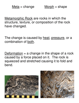 Metamorphic Rock Lecture