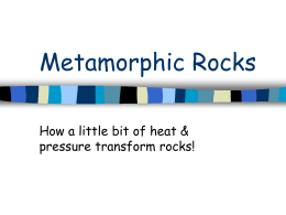Metamorphic Rocks - The Science Queen