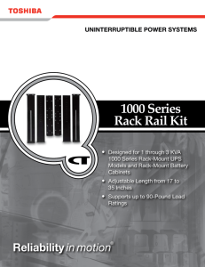 1000 Series Rack Rail Kit