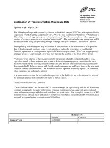 Explanation of Trade Information Warehouse Data