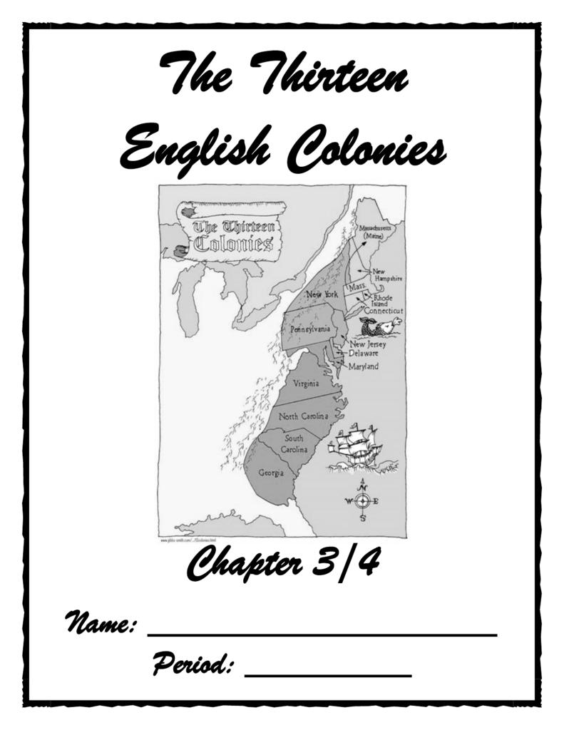 The Thirteen English Colonies -...... The 13 English ... on transportation on usa, flag on usa, people on usa, population density on usa, weather on usa, compass on usa, equator on usa,