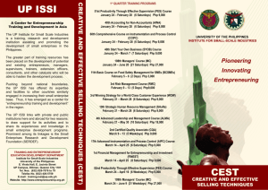 CEST - UP ISSI Website
