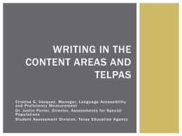 writing in the content areas and telpas