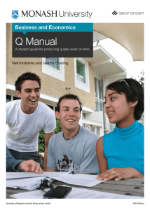 Q Manual - Monash Business School