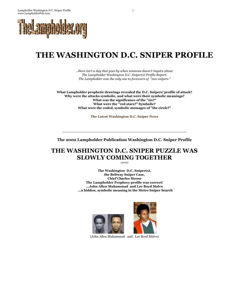 Lampholder Washington D C  Sniper Profile