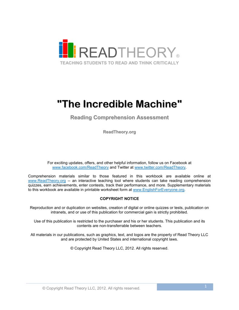 Read Theory Workbooks