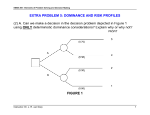 Extra Problem 5- Dominance and Risk Profiles