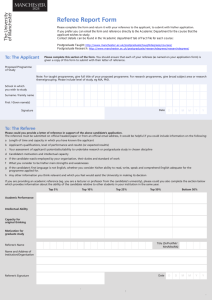 Referee Report Form