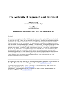 The Authority of Supreme Court Precedent