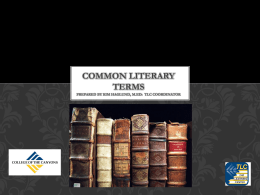 Common literary terms