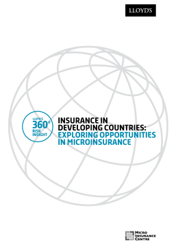 Insurance in developing countries: Exploring opportunities