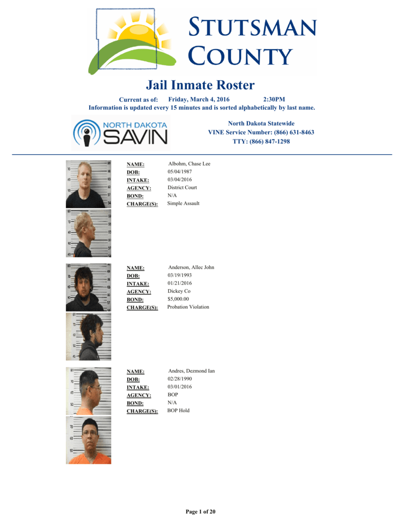 View Jail Inmate Roster