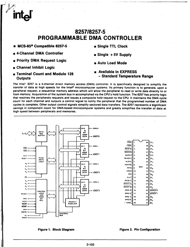 Block Diagram Architecture Of 8257 Dma Controller Electrical In Intel Programmable