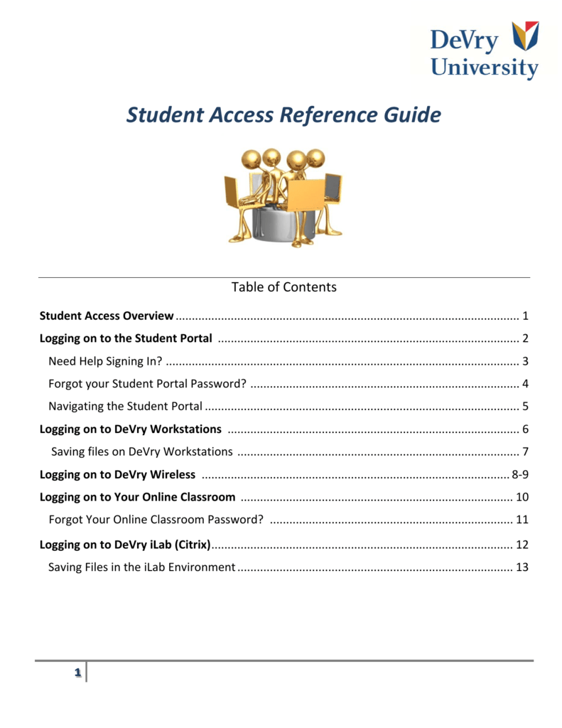 Student Access Reference Guide