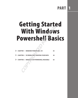 Getting Started With Windows Powershell Basics - beck
