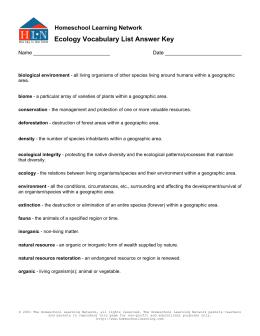 literature study guide don quixote ecology vocabulary list answer key