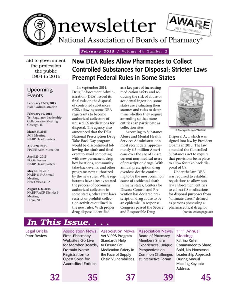 Newsletter National Association Of Boards Of Pharmacy