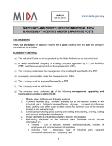 1 www.mida.gov.my GUIDELINES AND PROCEDURES FOR