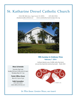 February 7, 2016 - St. Katharine Drexel Church