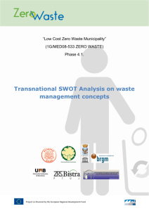 SWOT Analysis - zero waste project
