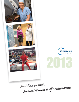Meridian Health's Medical/Dental Staff Achievements