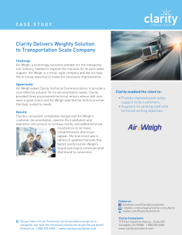 Clarity Delivers Weighty Solution to Transportation Scale Company