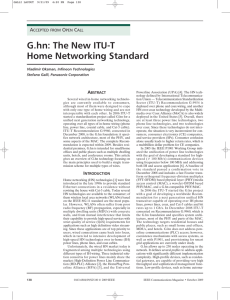 G.hn: The New ITU-T Home Networking Standard
