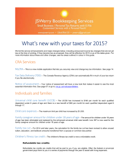 What's new with your taxes for 2015?