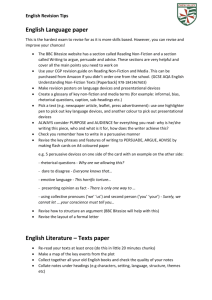 English Language paper English Literature – Texts paper