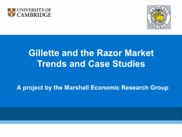 Gillette and the Razor Market Trends and Case Studies
