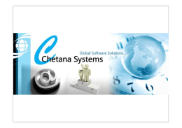 Chetana Systems Profile 2013