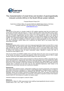 The characterization of onset times and duration of geomagnetically