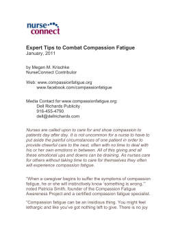 January 2011 Expert Tips to Combat Compassion Fatigue