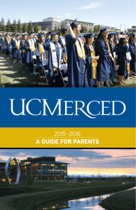 UC Merced 2015-2016 Guide for Parents