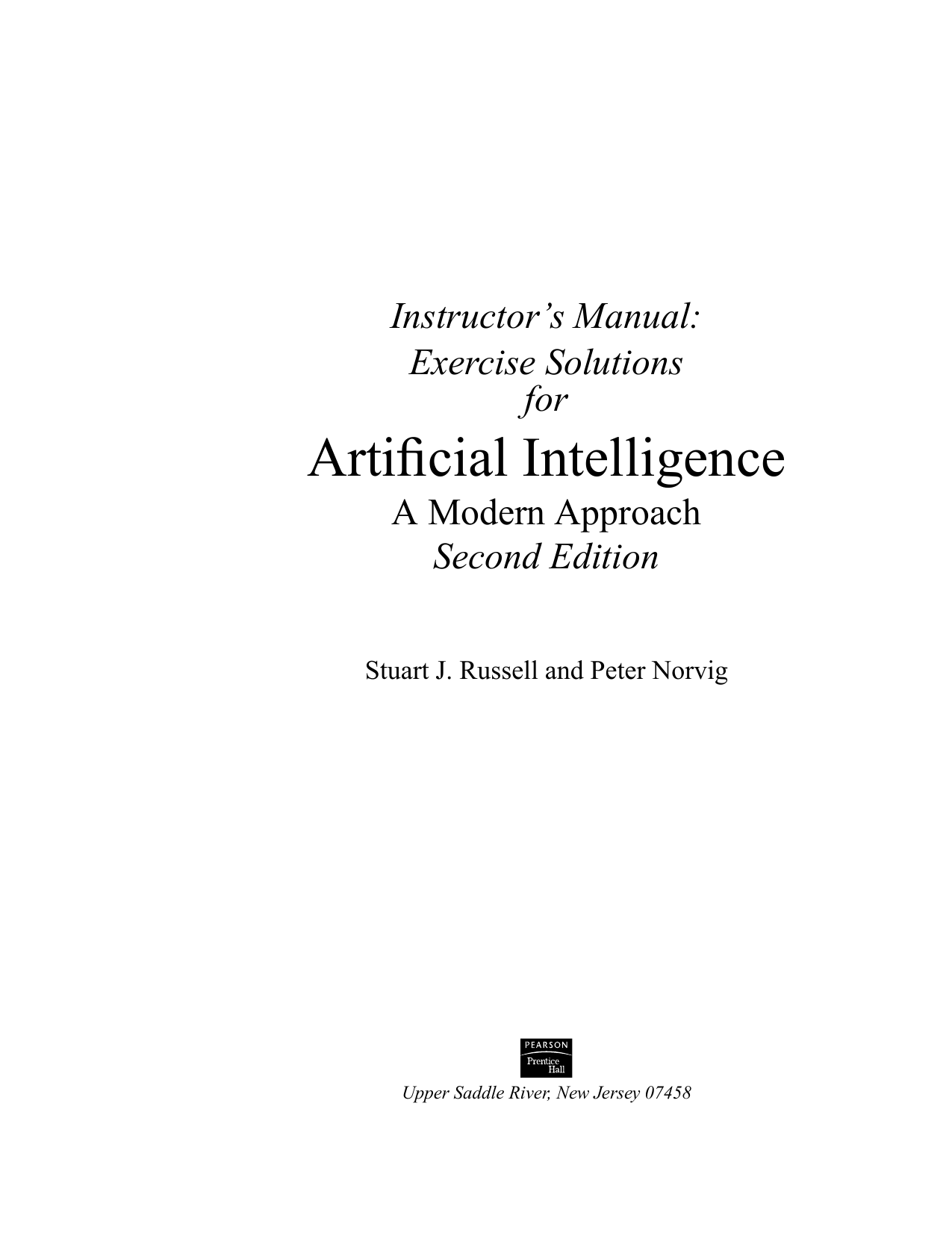 Introduction to algorithms 3rd edition instructors manual array instructor u0027s manual for arti cial intelligence rh studylib fandeluxe Gallery