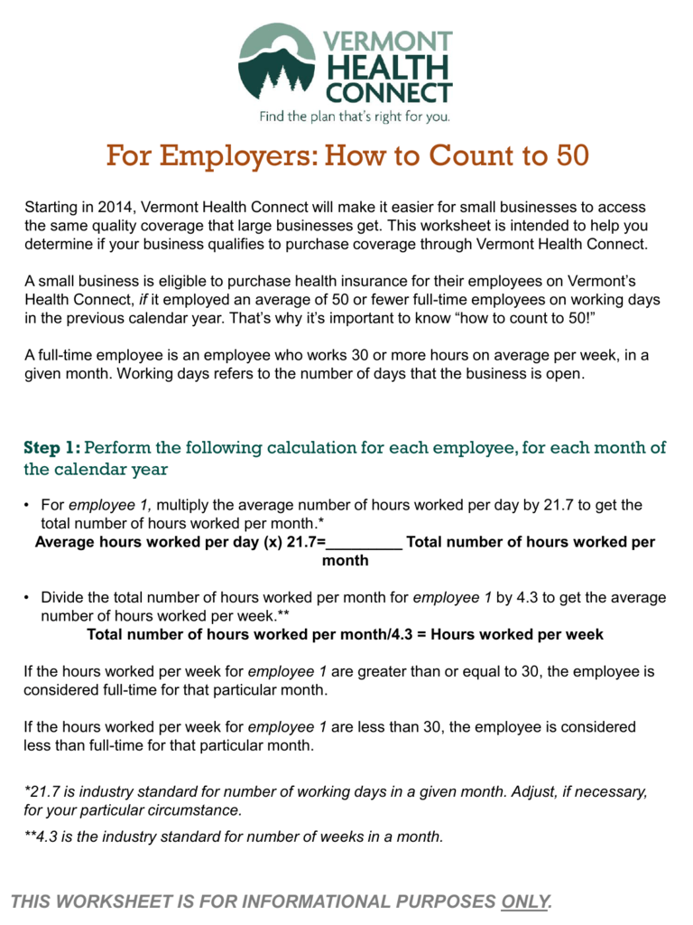 For Employers How To Count To 50