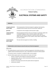 Electrical Systems and Safety - College of Physicians and Surgeons