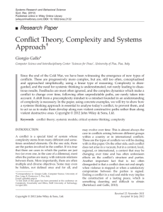 Research Paper Conflict Theory