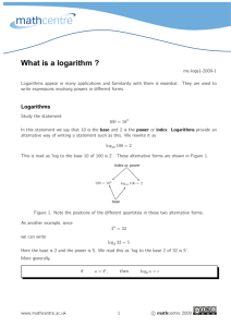 What is a logarithm