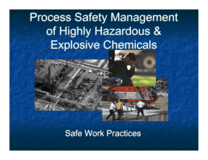 Process Safety Management of Highly Hazardous & Explosive