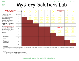 Mystery Solutions Lab