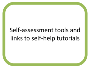 Self-assessment tools - ELIE - Employability: Learning through