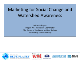 Marketing for Social Change and Watershed Awareness