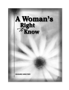 Woman's Right to Know - Texas Department of State Health Services
