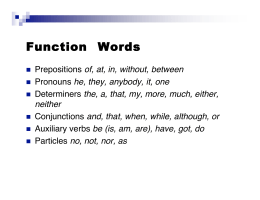 Function Words