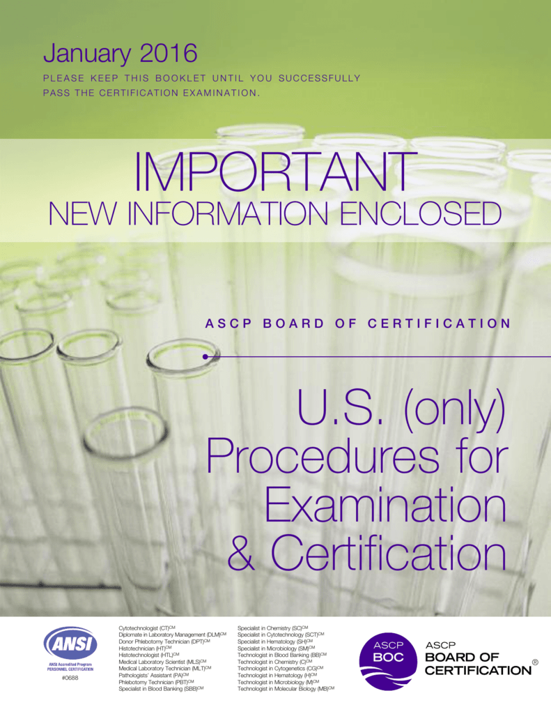 Ascp Board Of Certification