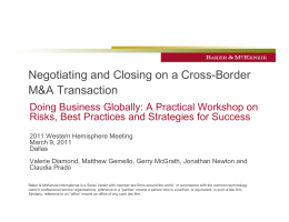 Negotiating and Closing on a Cross