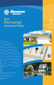 Your Personal Insurance Policy Wording Booklet